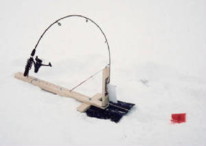 Homemade Ice Fishing Tip Up